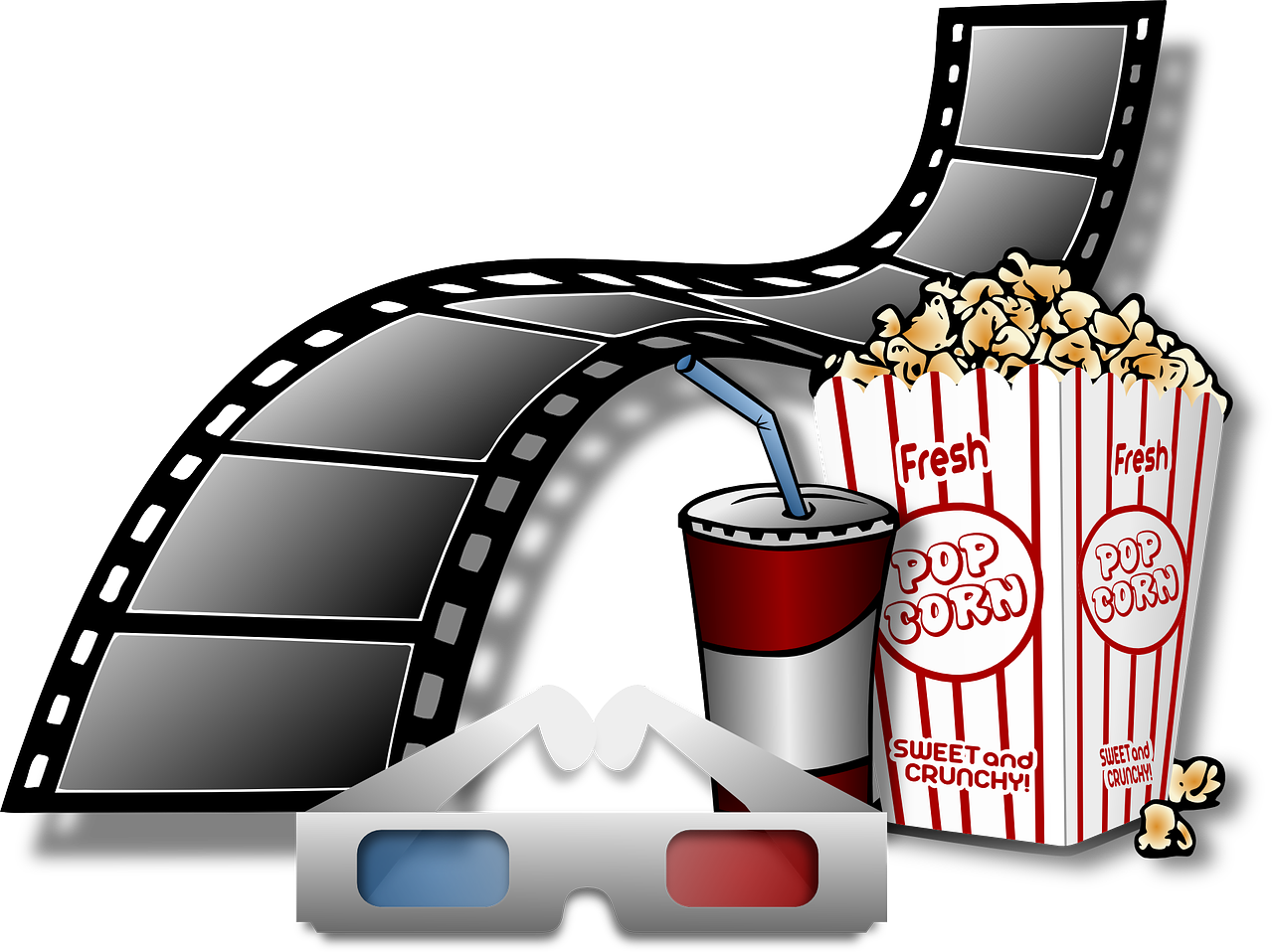 Film Cinema Popcorn Coke Fun Free Image From Needpix Com