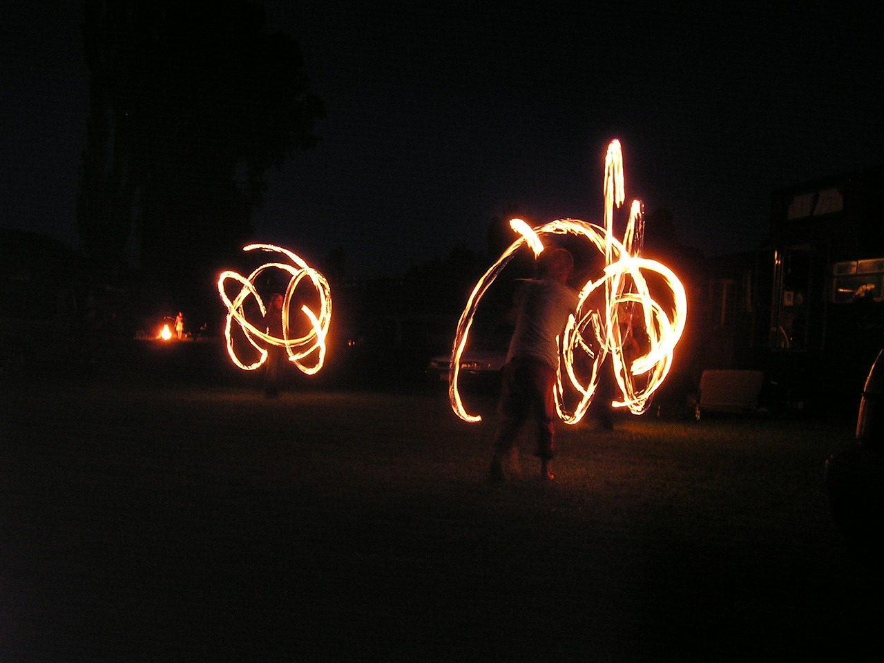 fire dancing fire acrobats free photo