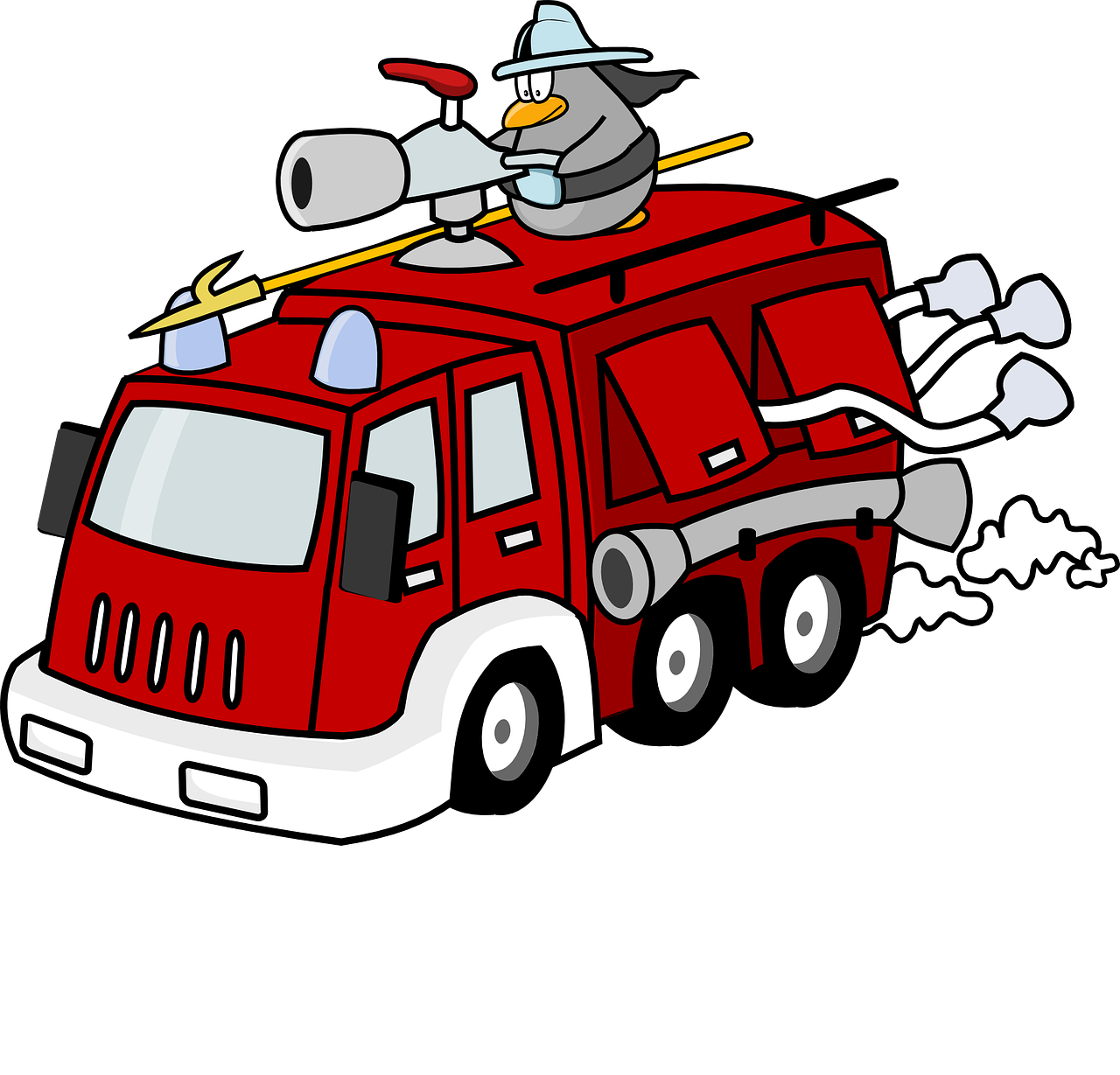 fire engine fire fighter fighting free photo
