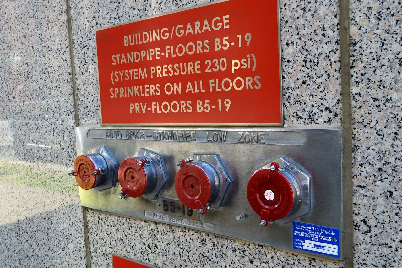 fire safety standpipe sprinkler free photo