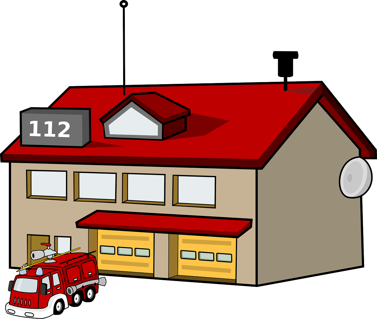 fire station house building free photo