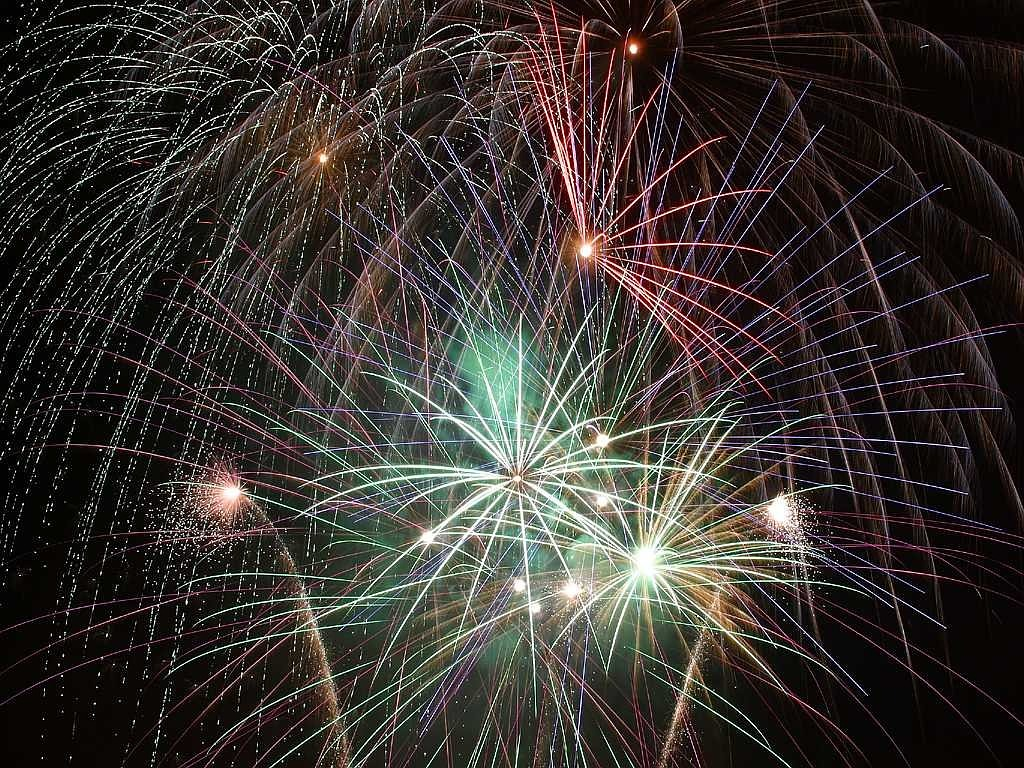 fireworks color night free photo