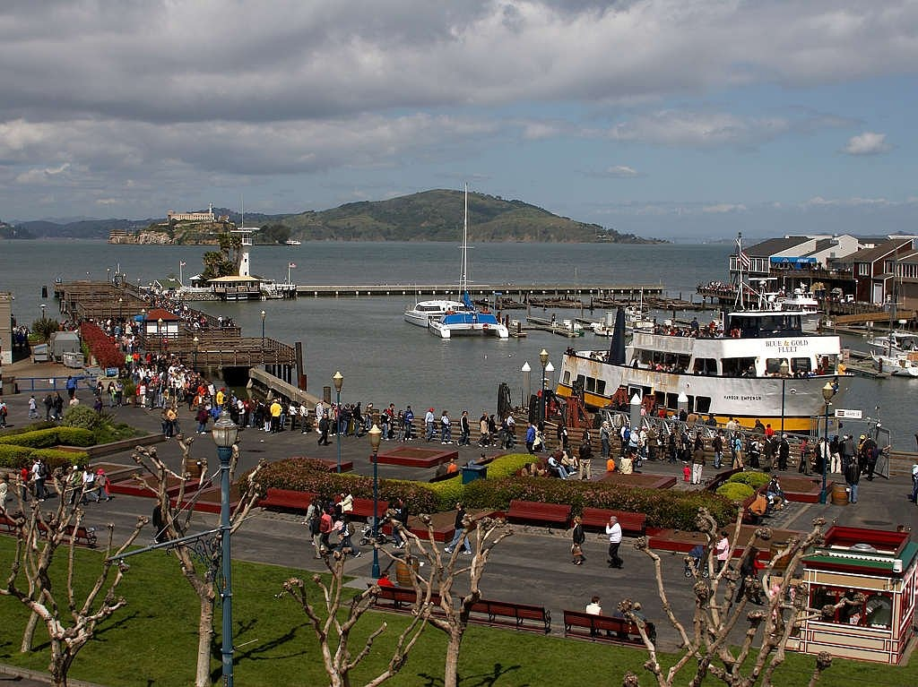 fishermans wharf alcatraz boats free photo