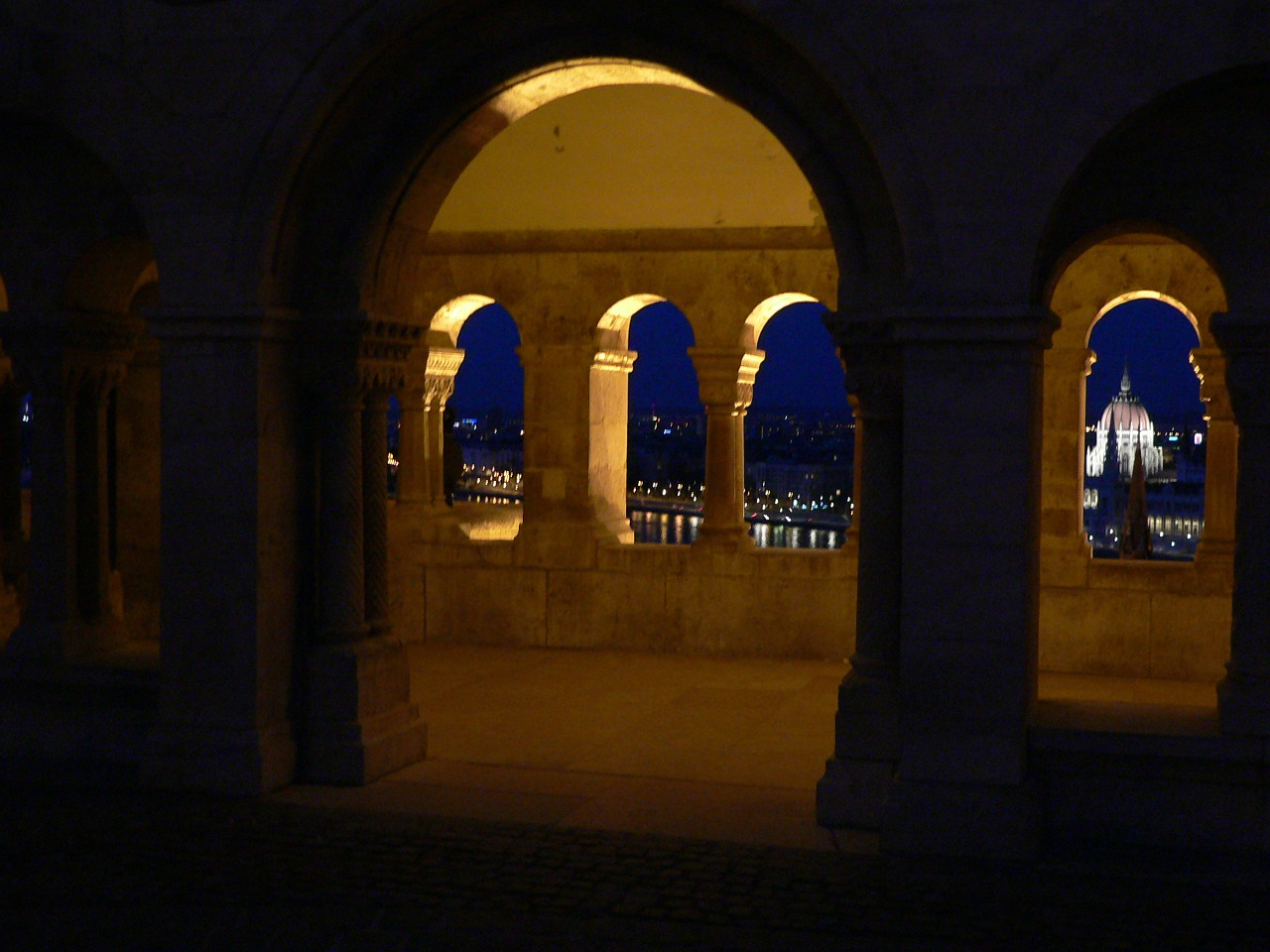 fishermen's bastion parliament at night free photo