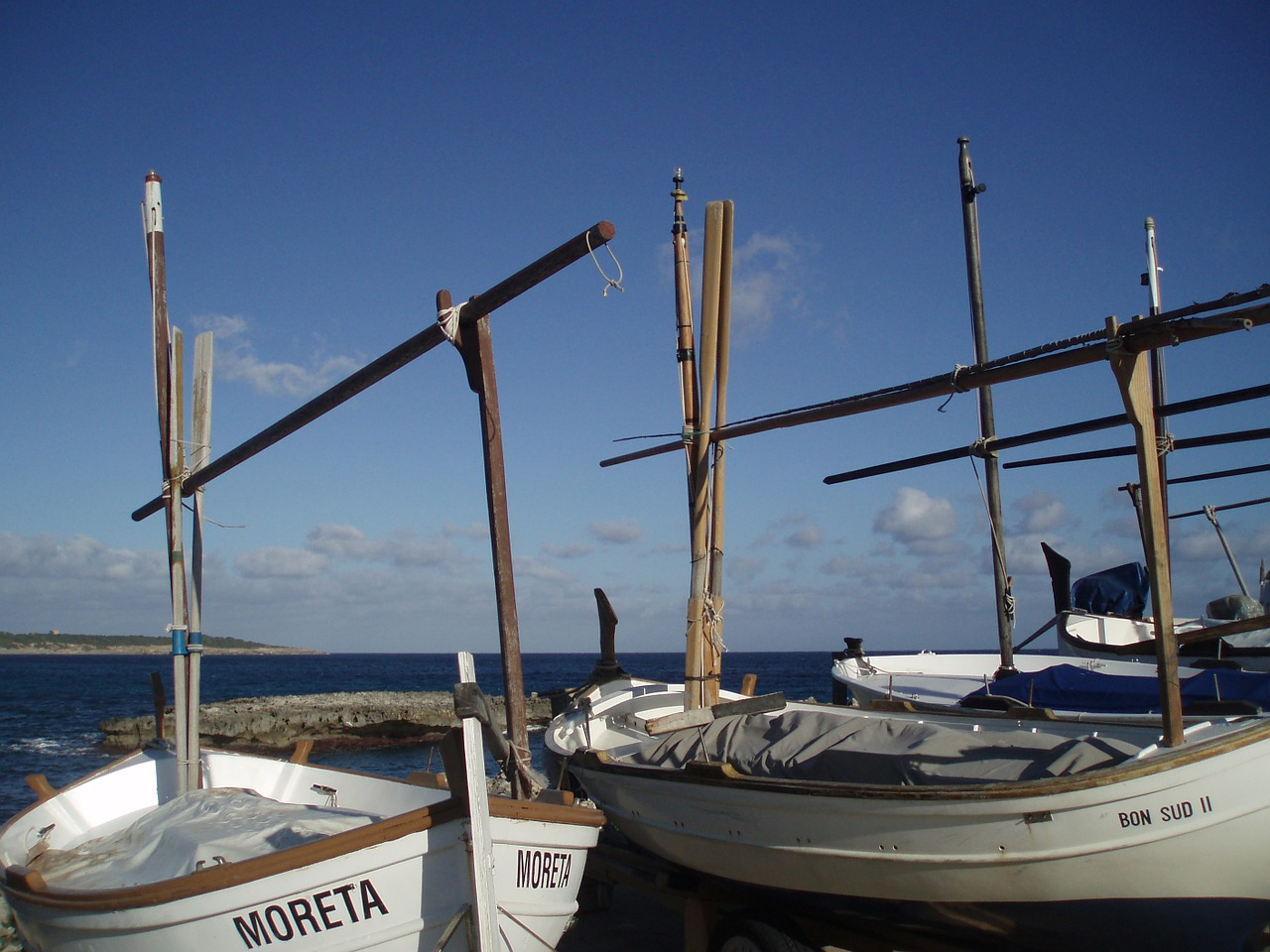 fishing boats masts boats free photo