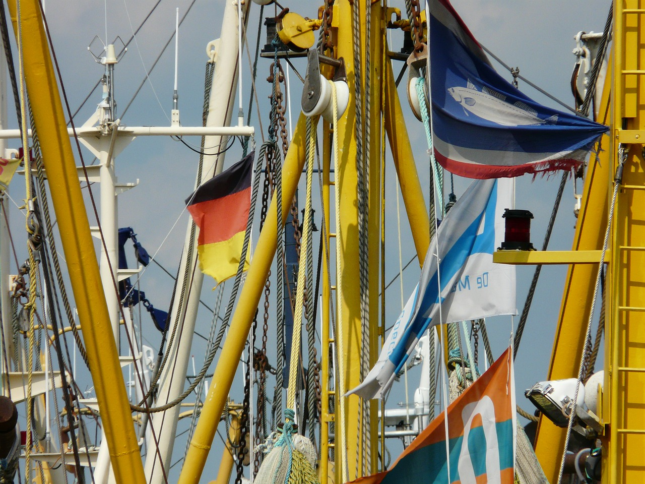 fishing boats details masts free photo