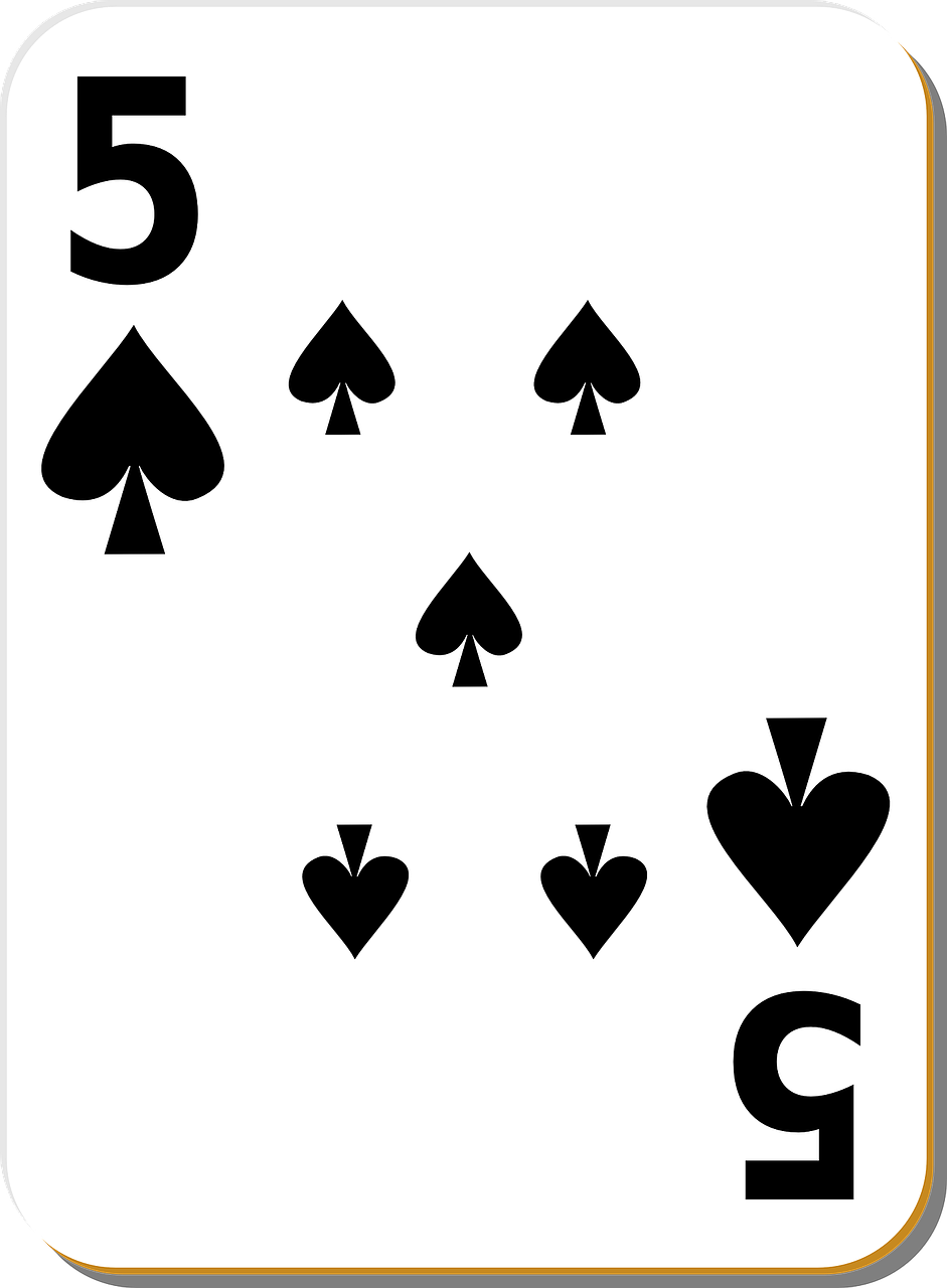 five spades playing cards free photo