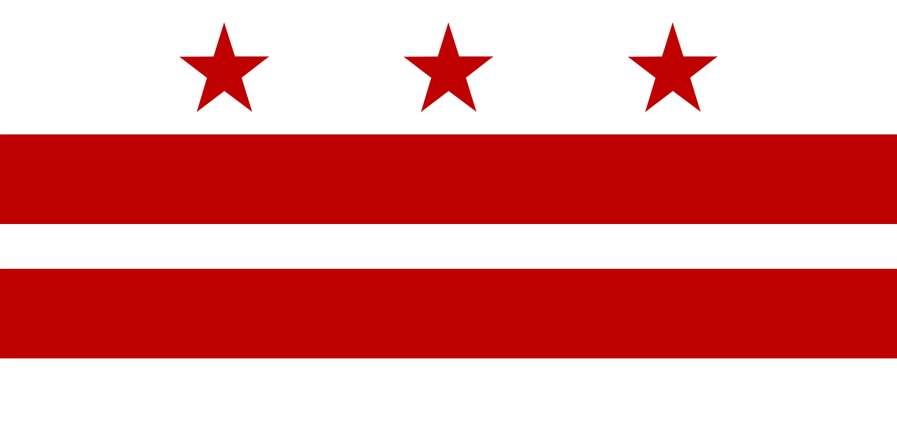flag washington dc district of columbia free photo