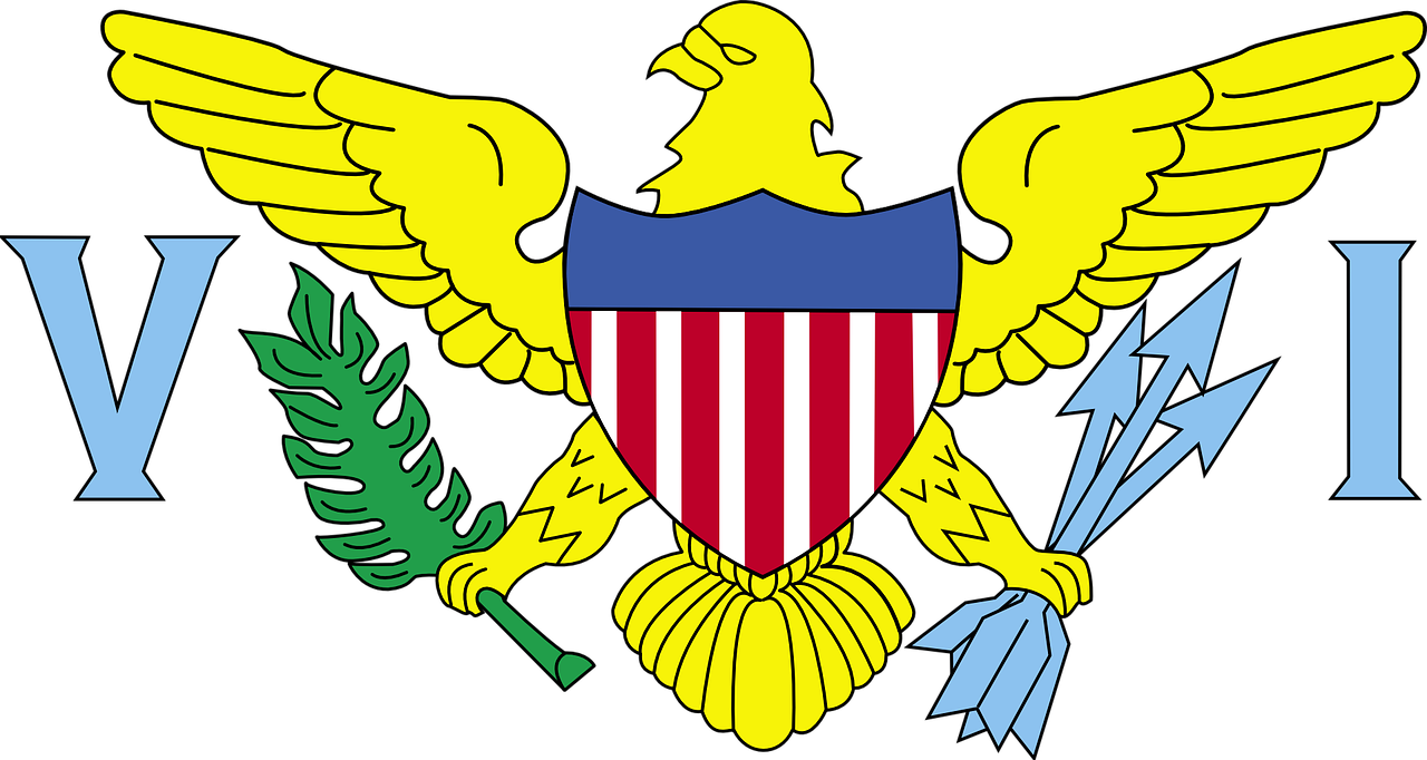 flag,virgin islands,usa,american,coat of arms,eagle,united states,islands,symbol,free vector graphics,free pictures, free photos, free images, royalty free, free illustrations, public domain