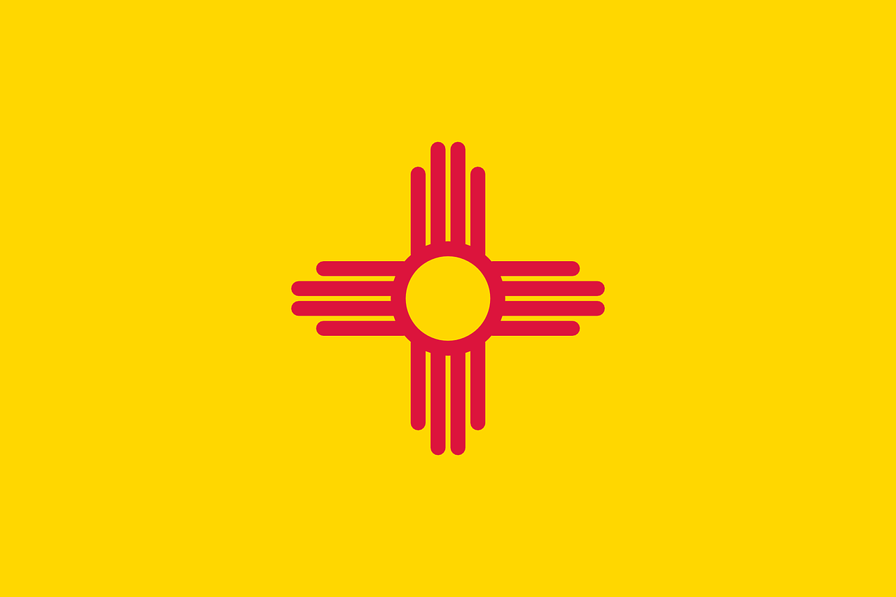 flag,new,mexico,state,usa,united,states,america,free vector graphics,free pictures, free photos, free images, royalty free, free illustrations, public domain