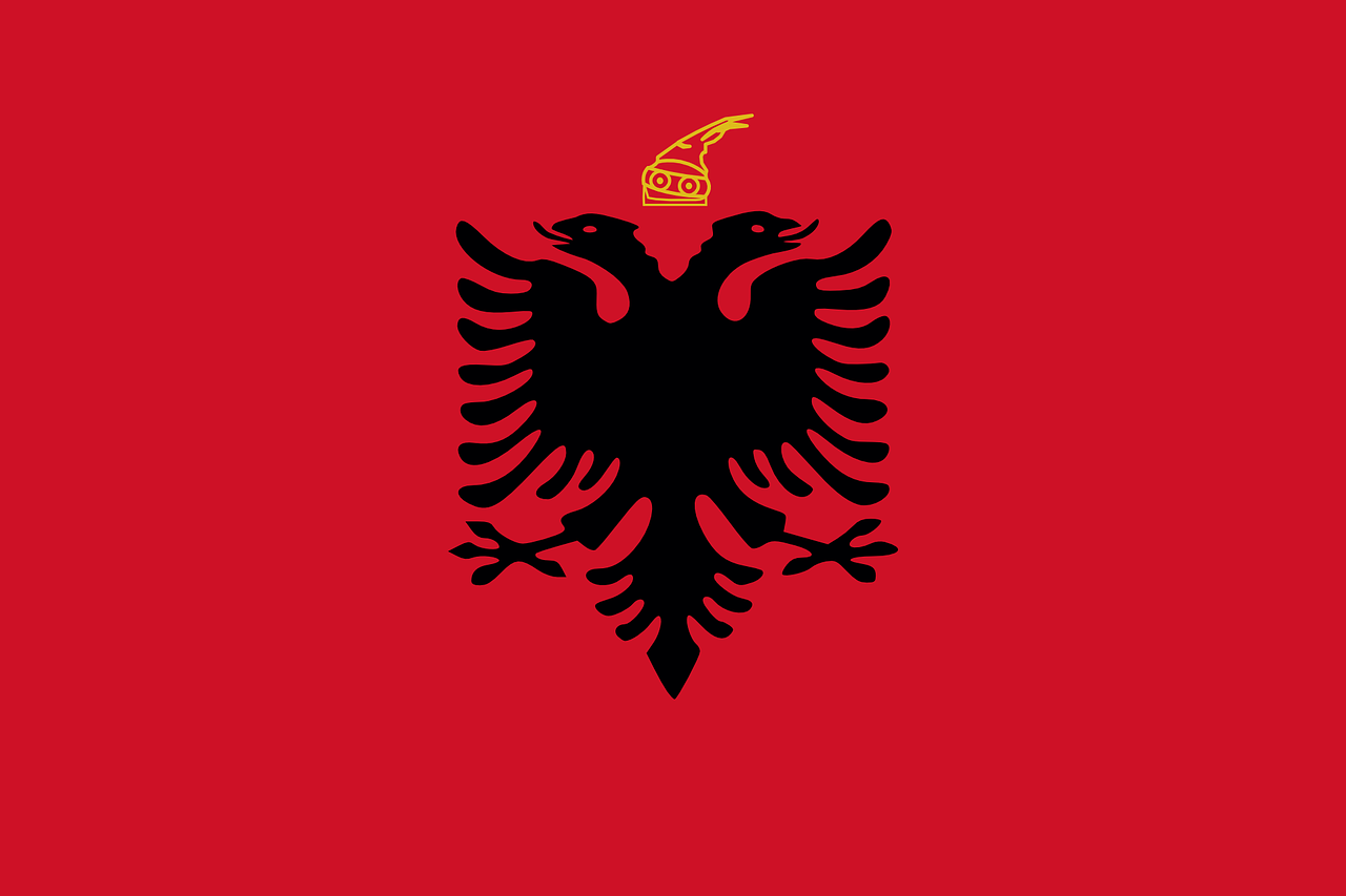 flag albania kingdom free photo