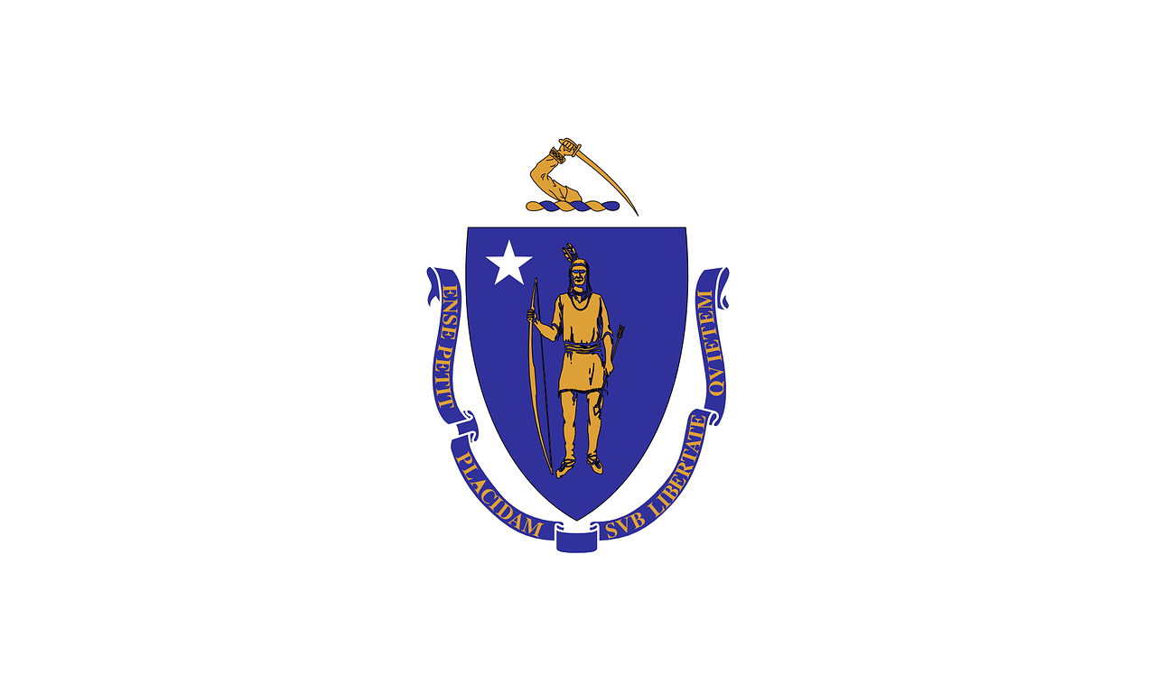 flag massachusetts blue free photo