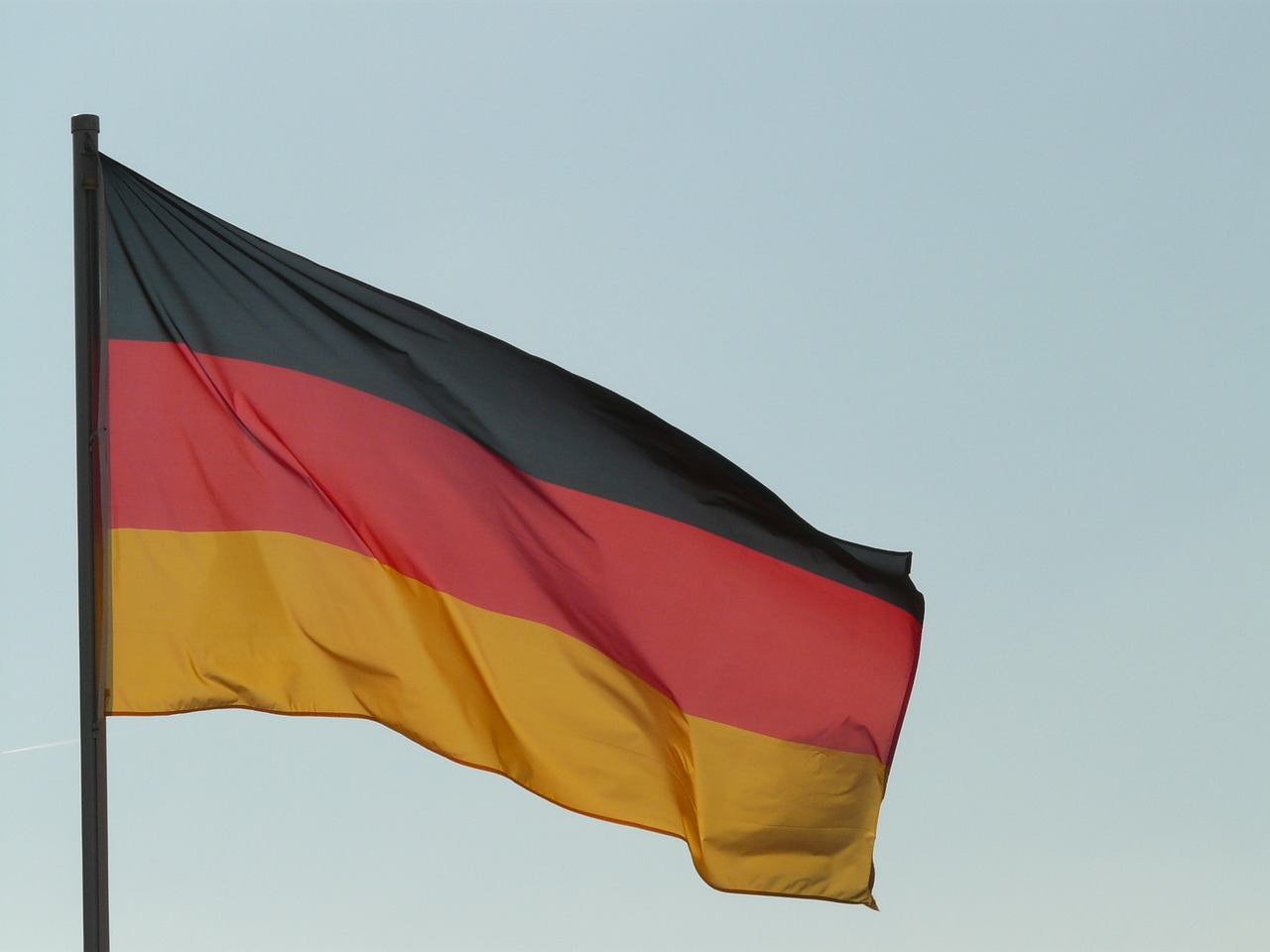 flag,germany,german flag,wind,blow,flutter,free pictures, free photos, free images, royalty free, free illustrations, public domain