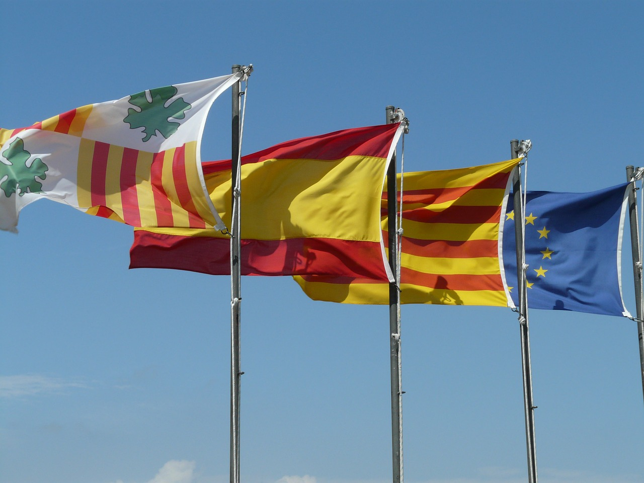 flag,flags,wind,blow,colorful,color,spain,europe,free pictures, free photos, free images, royalty free, free illustrations, public domain