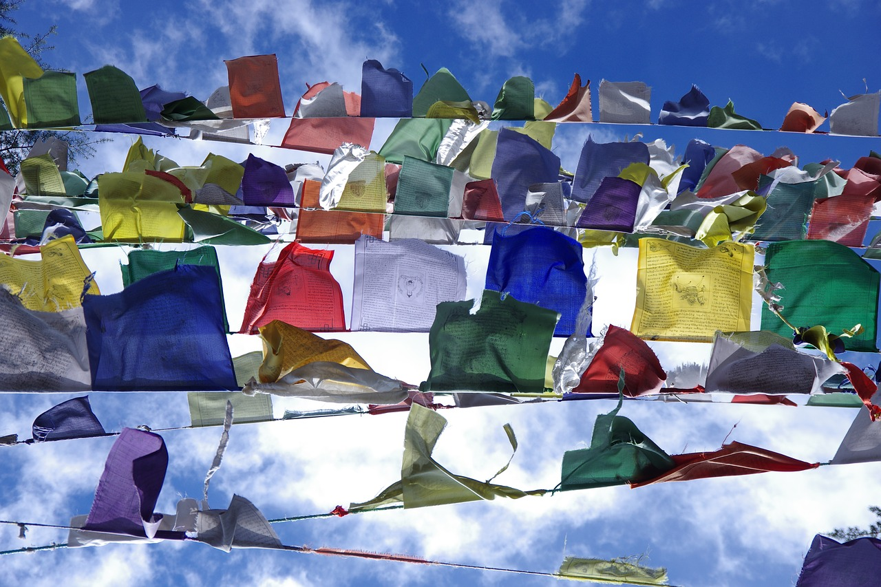 flags,tibetan flags,colours,tibetan,buddhism,culture,religion,india,mcleodganj,free pictures, free photos, free images, royalty free, free illustrations, public domain