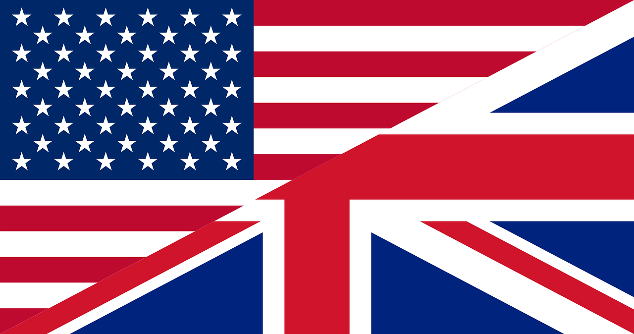 flags unites states great britain free photo