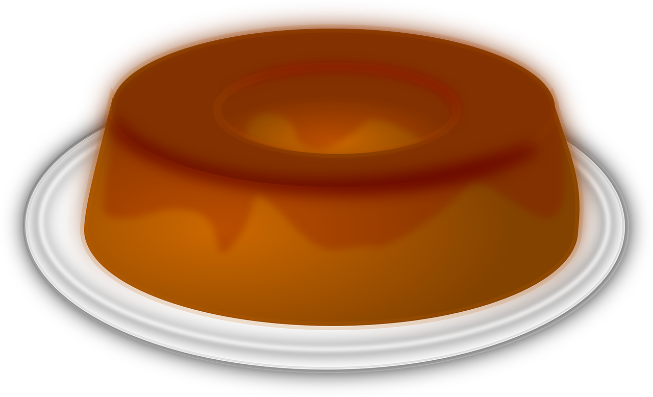 flan,pudding,dessert,caramel,cake,sweet,free vector graphics,free pictures, free photos, free images, royalty free, free illustrations, public domain