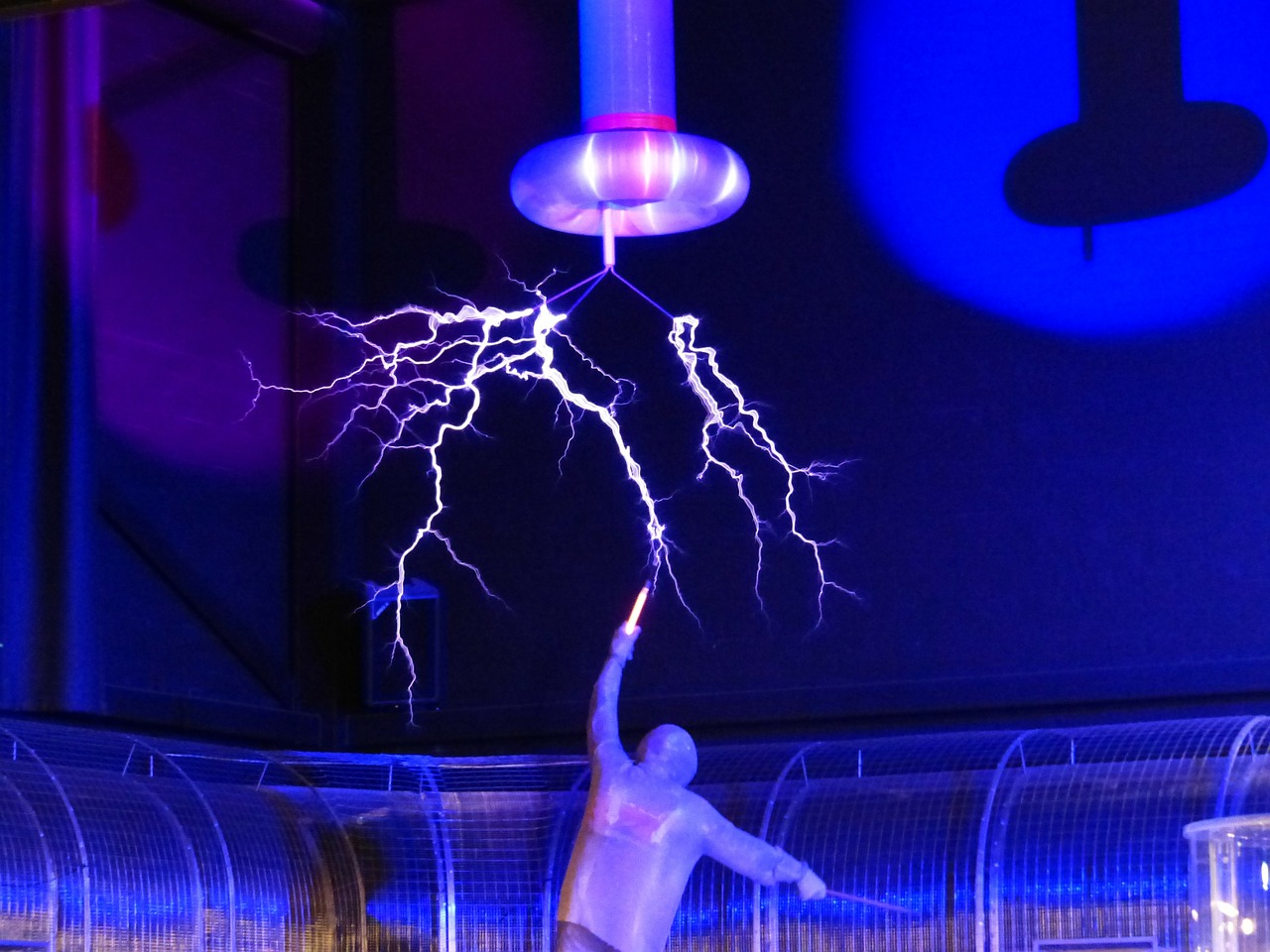 flash tesla coil experiment free photo