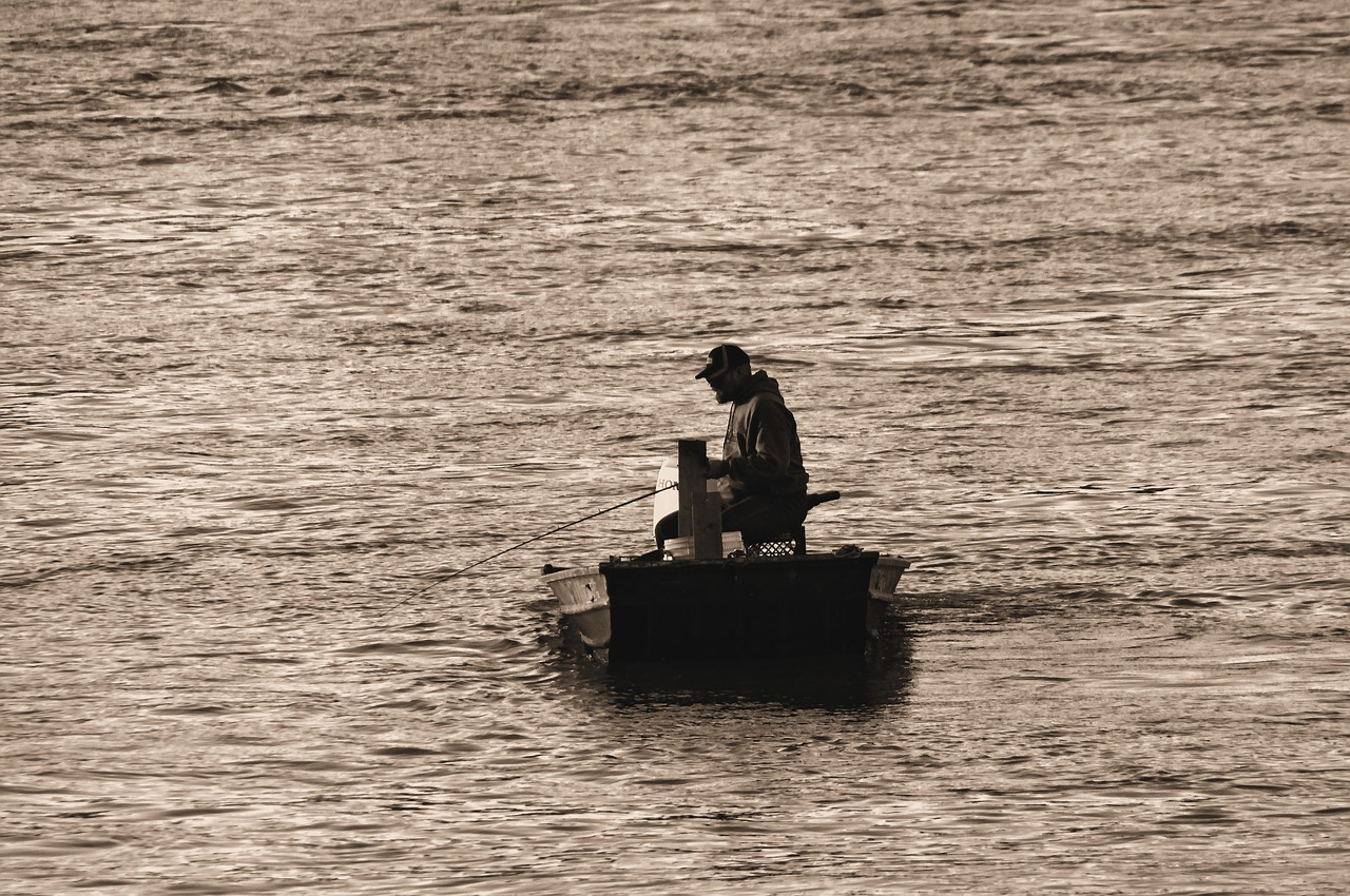 flat bottom boat on missouri river  river  fishing free photo