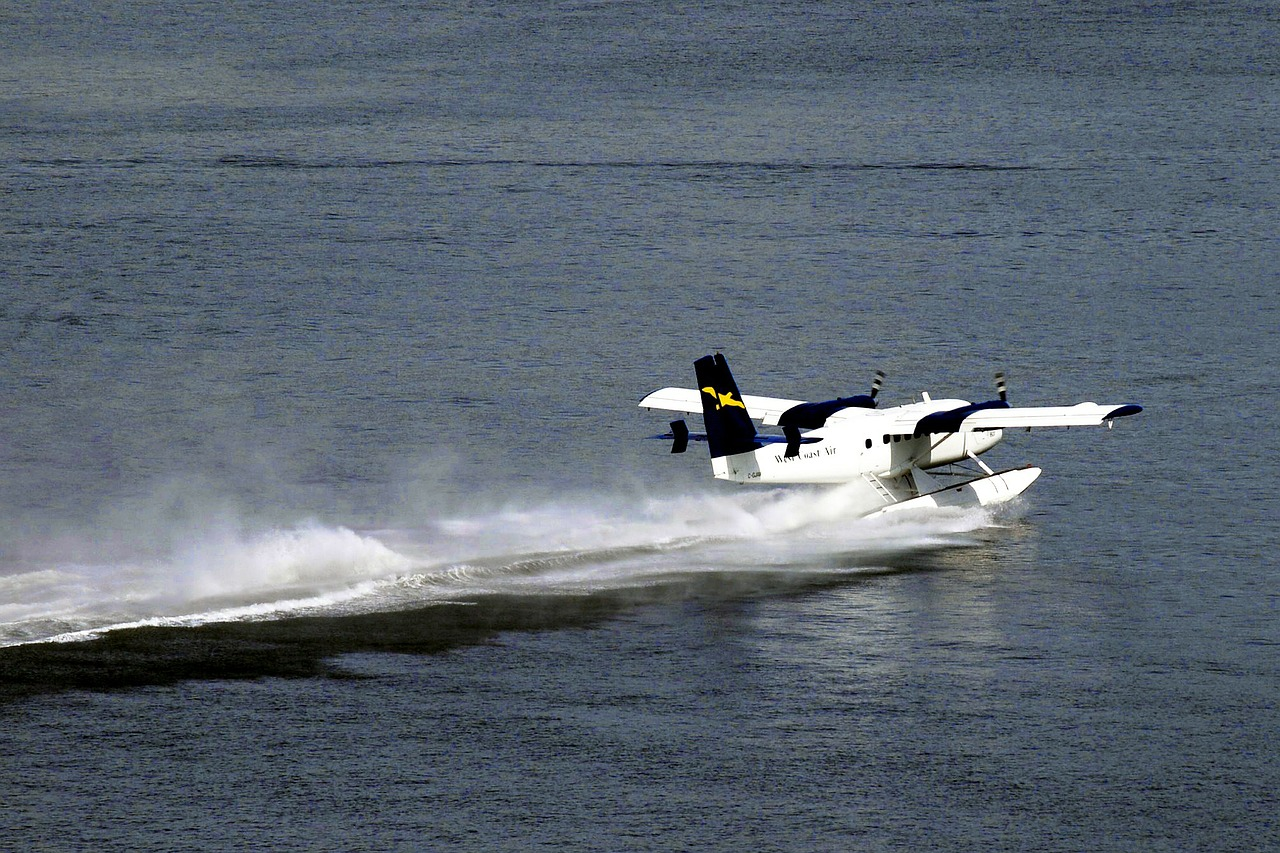 float plane water airplane free photo