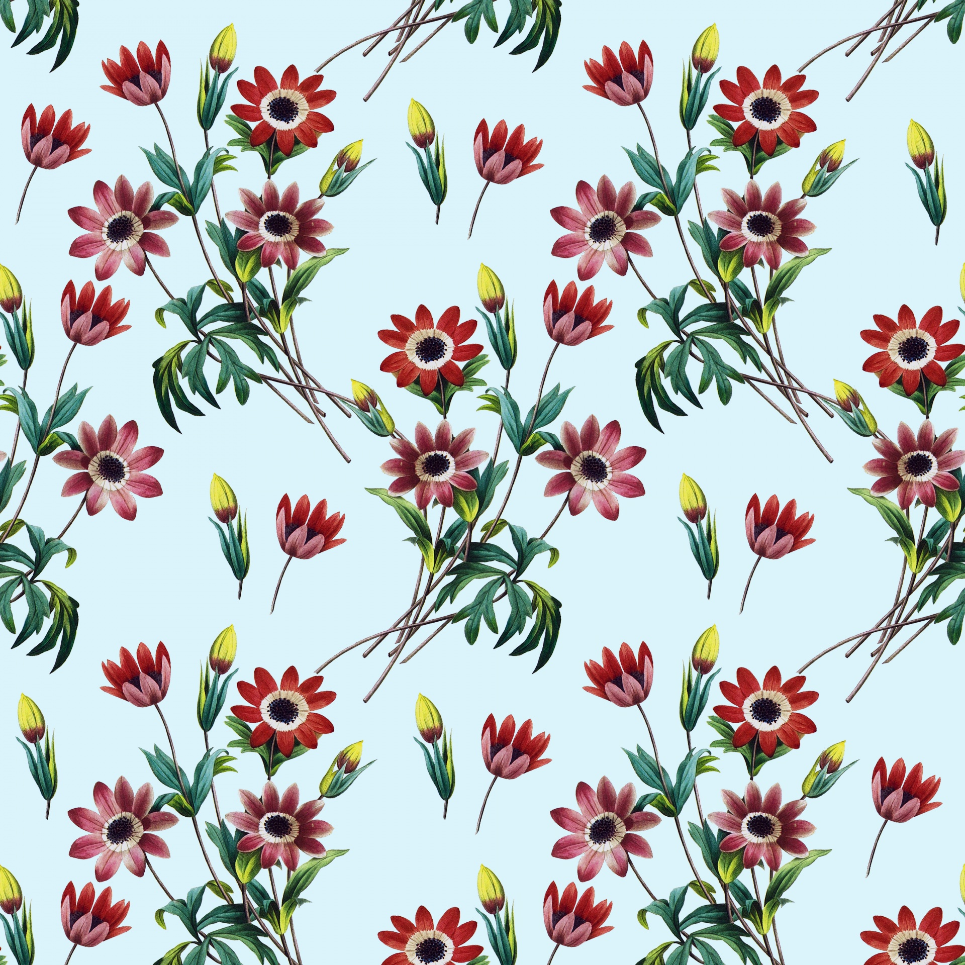 Floral Flowers Vintage Painting Background Free Image From