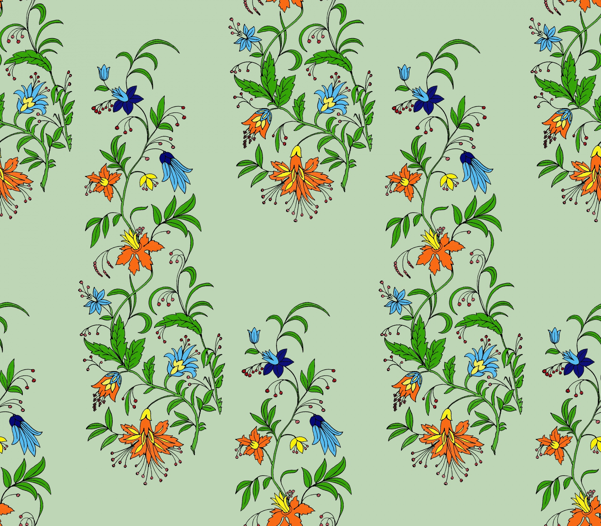Floral Background Vintage Flowers Ornamental Free Image From