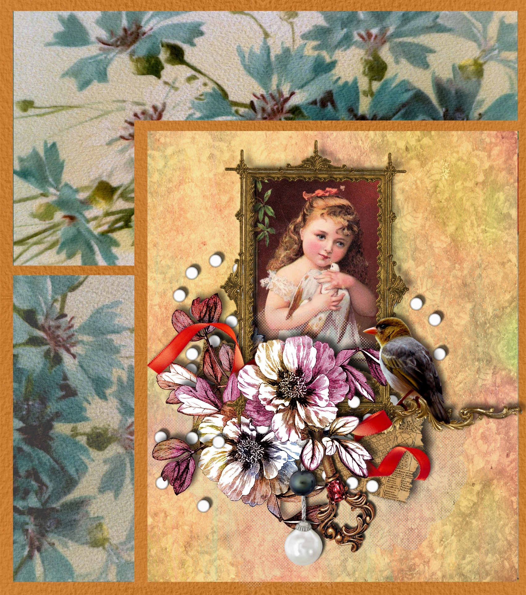 Floral Flowers Vintage Victorian Wallpaper Free Image From