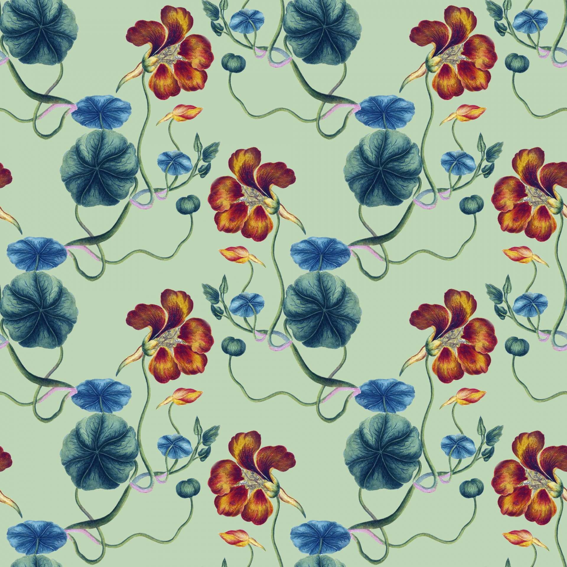 Floral Background Vintage Wallpaper Seamless Free Image From