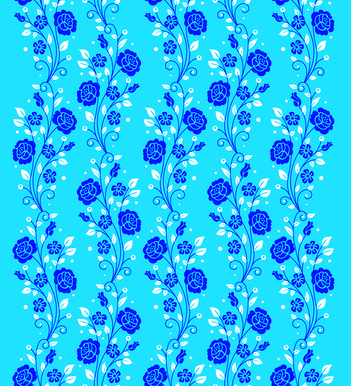 Floral Backgrounds Blue Flowers Blue Flowers Delicate Free Image