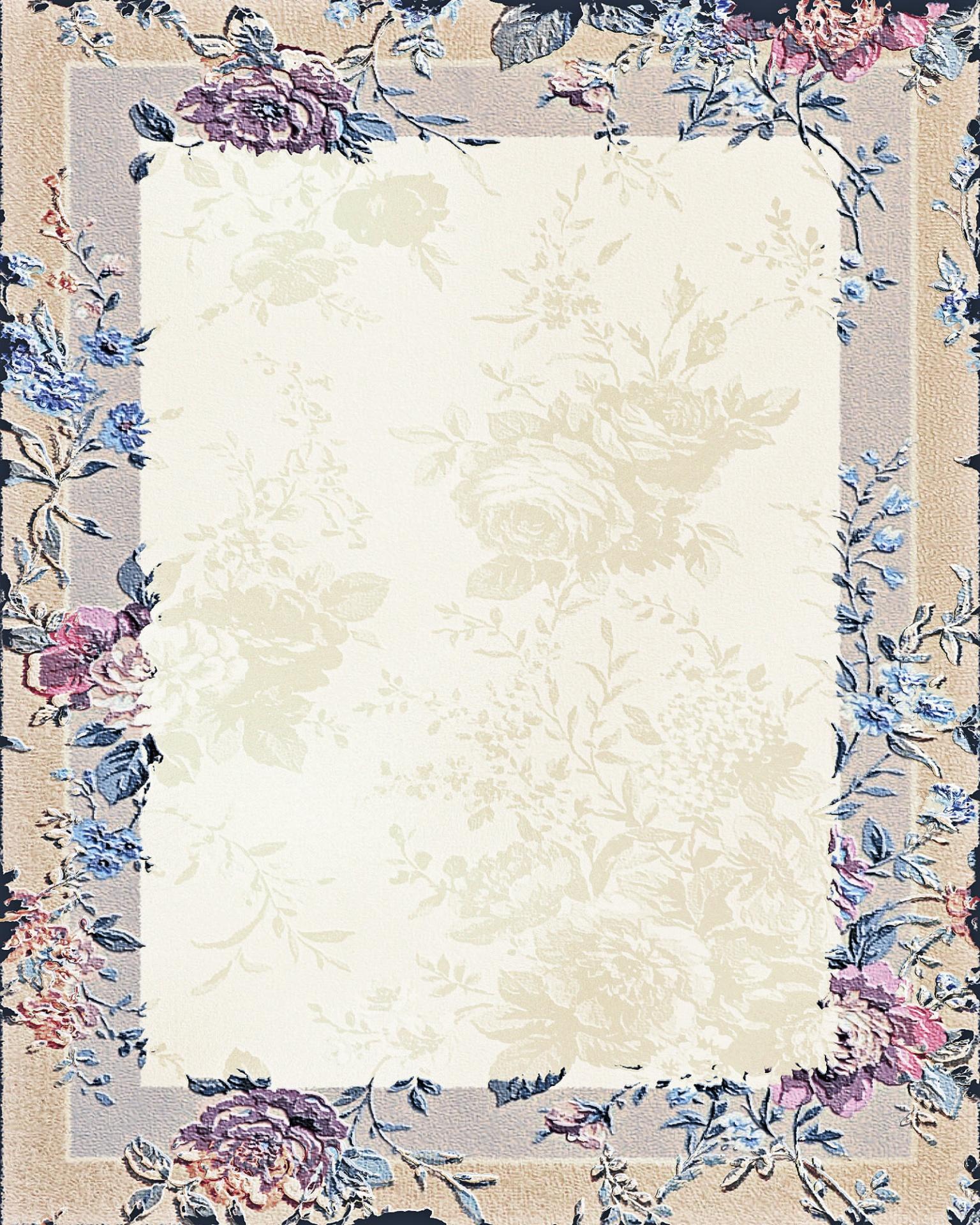 Floralframedecorativeportraitfloral Frame Background 21
