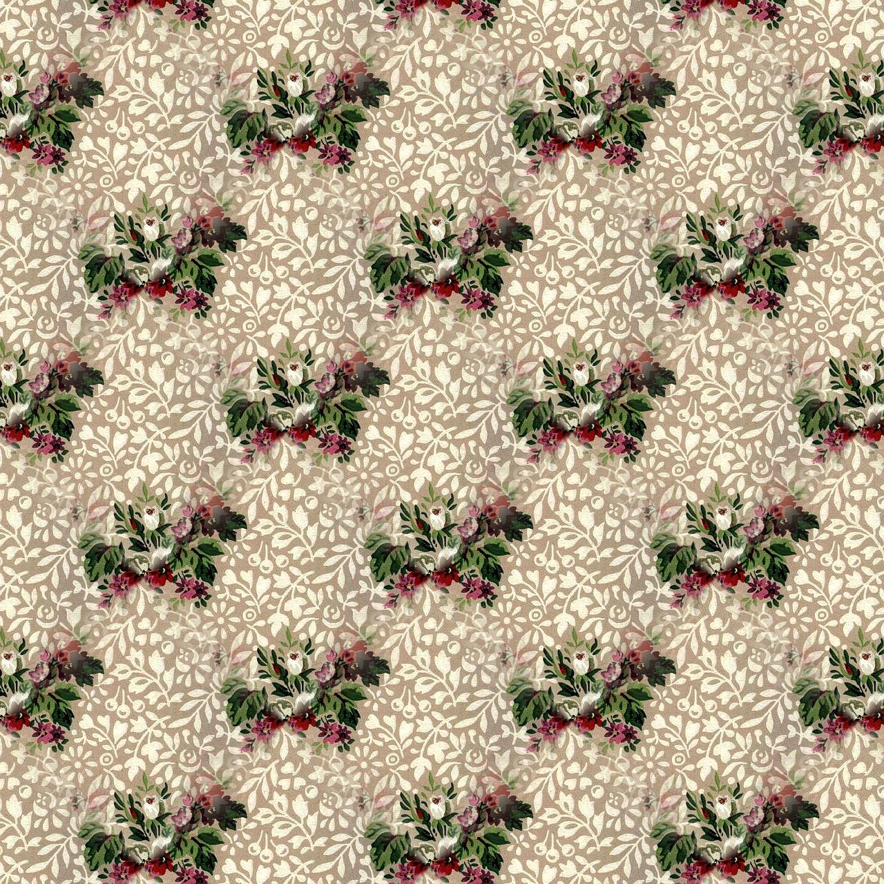 Floral Pattern Vintage Antique Seamless Decorative Free Image
