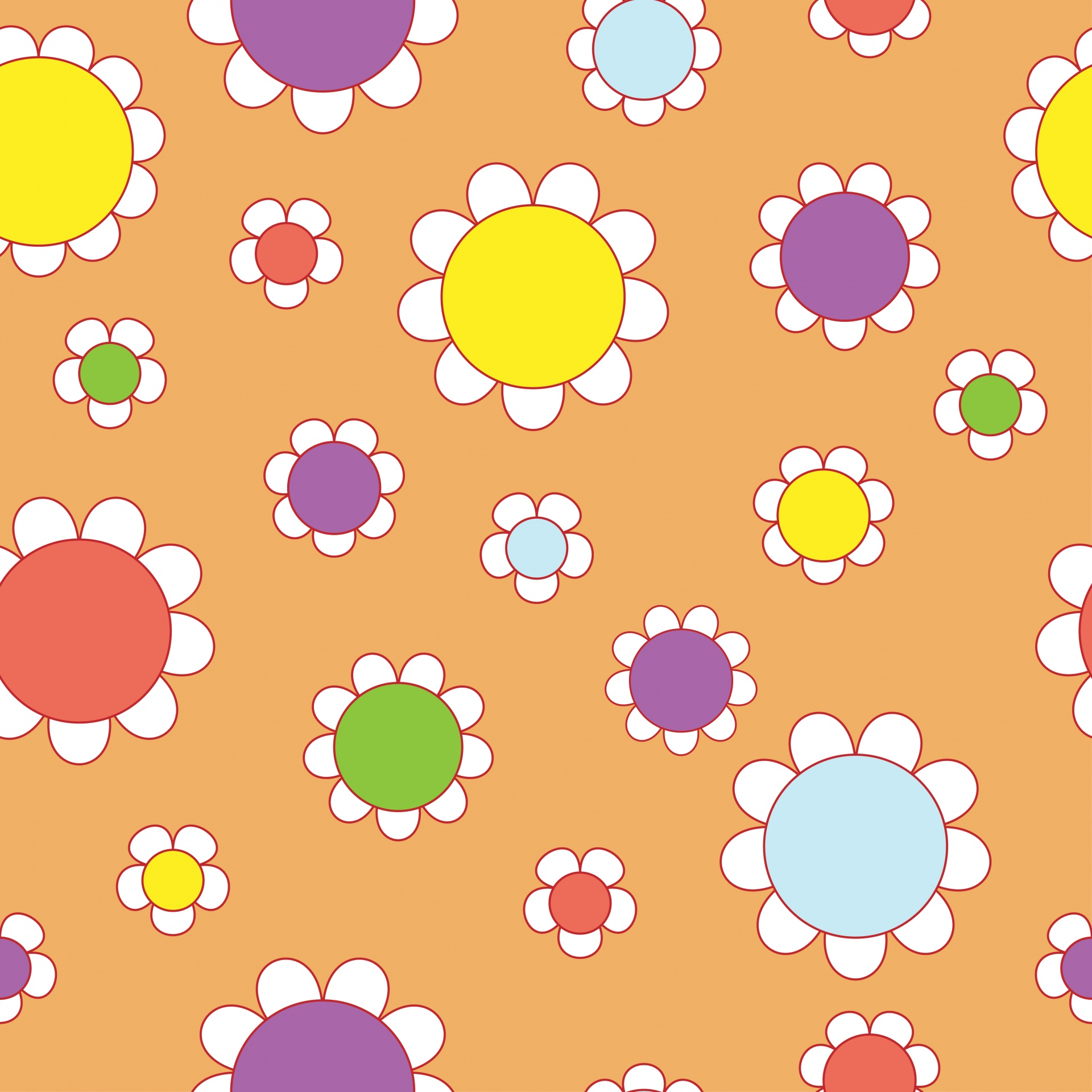 Floral Wallpaper Background 60s 1960s Free Image From Needpix Com