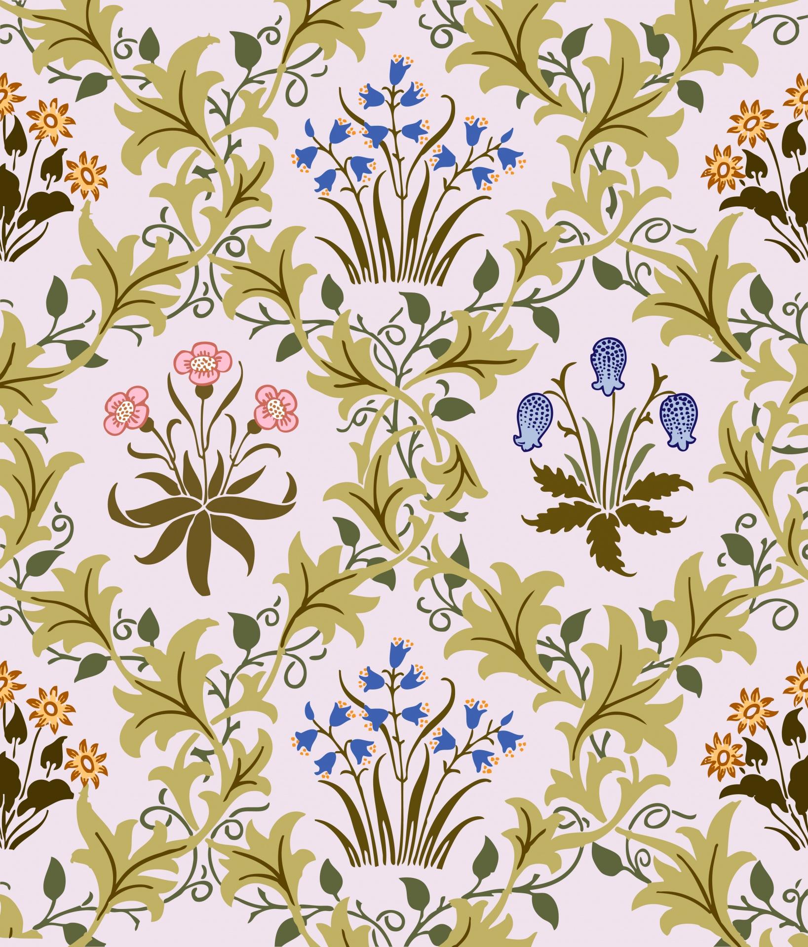 Flower Background Wallpaper Vintage