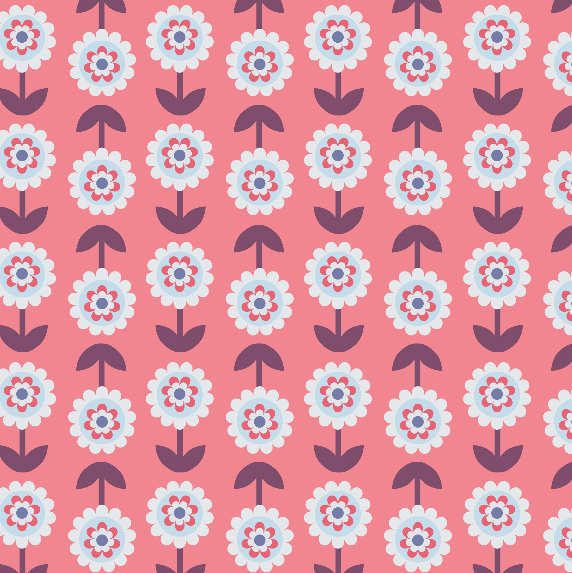 Floral Flowers Retro Background Wallpaper Free Image From
