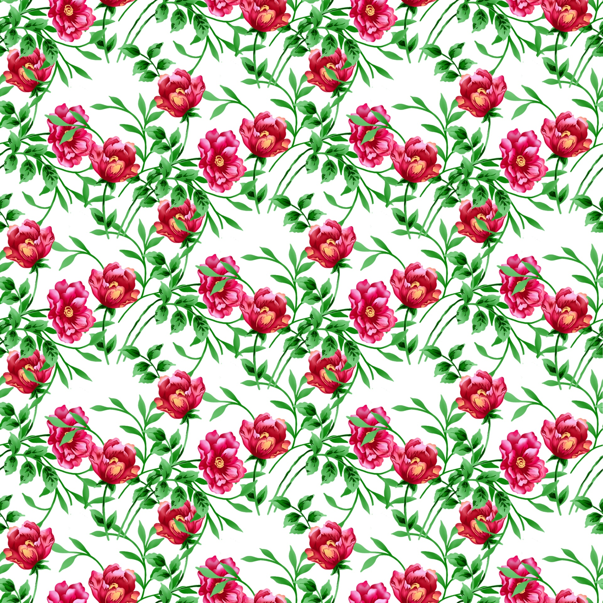 Floral Flowers Wallpaper Paper Background Free Image From