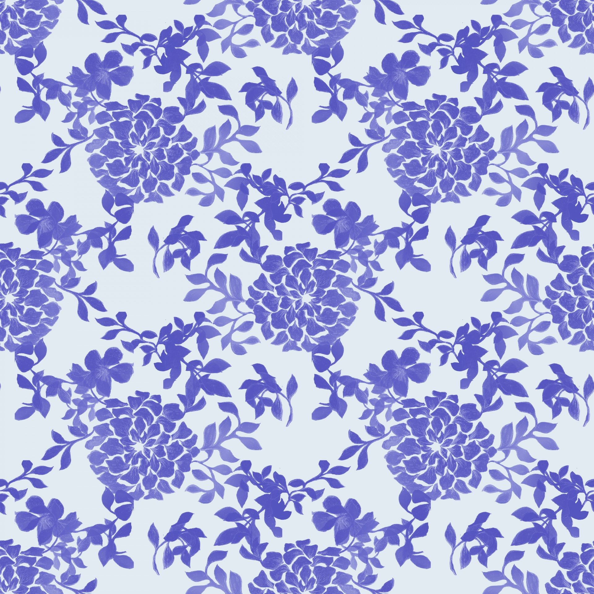 Floral Wallpaper Background Pattern Blue Free Image From Needpix Com