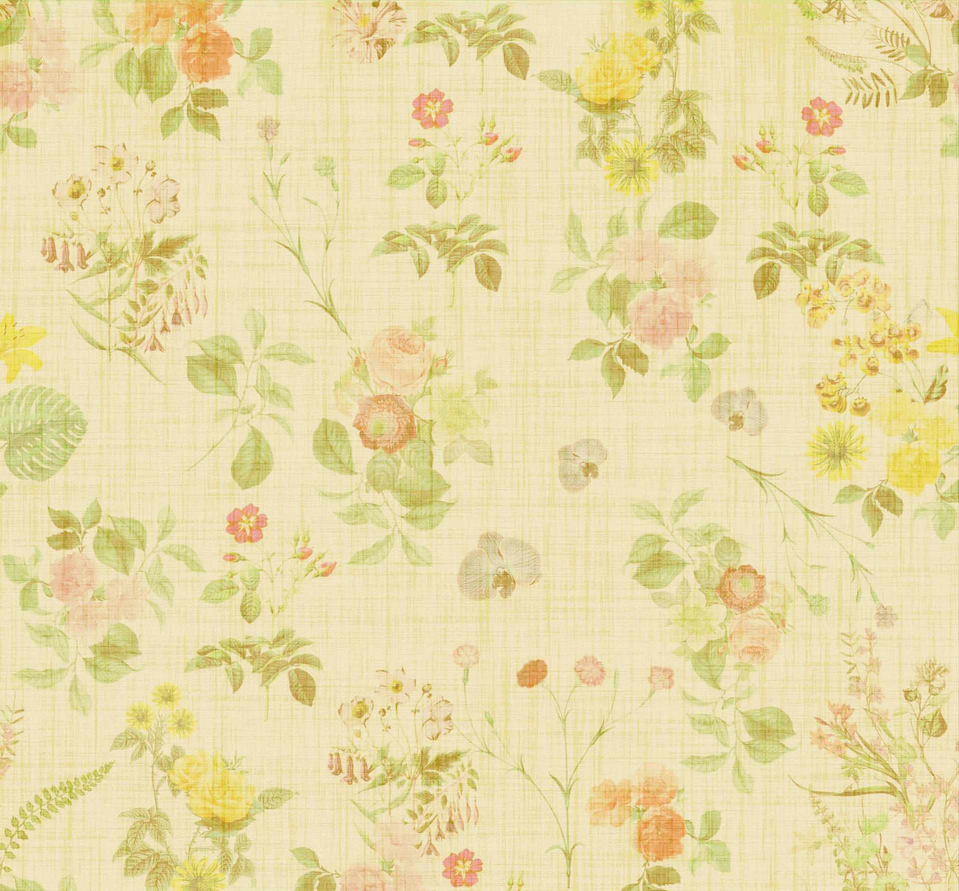 Floral Flowers Wallpaper Paper Vintage Free Image From Needpix Com