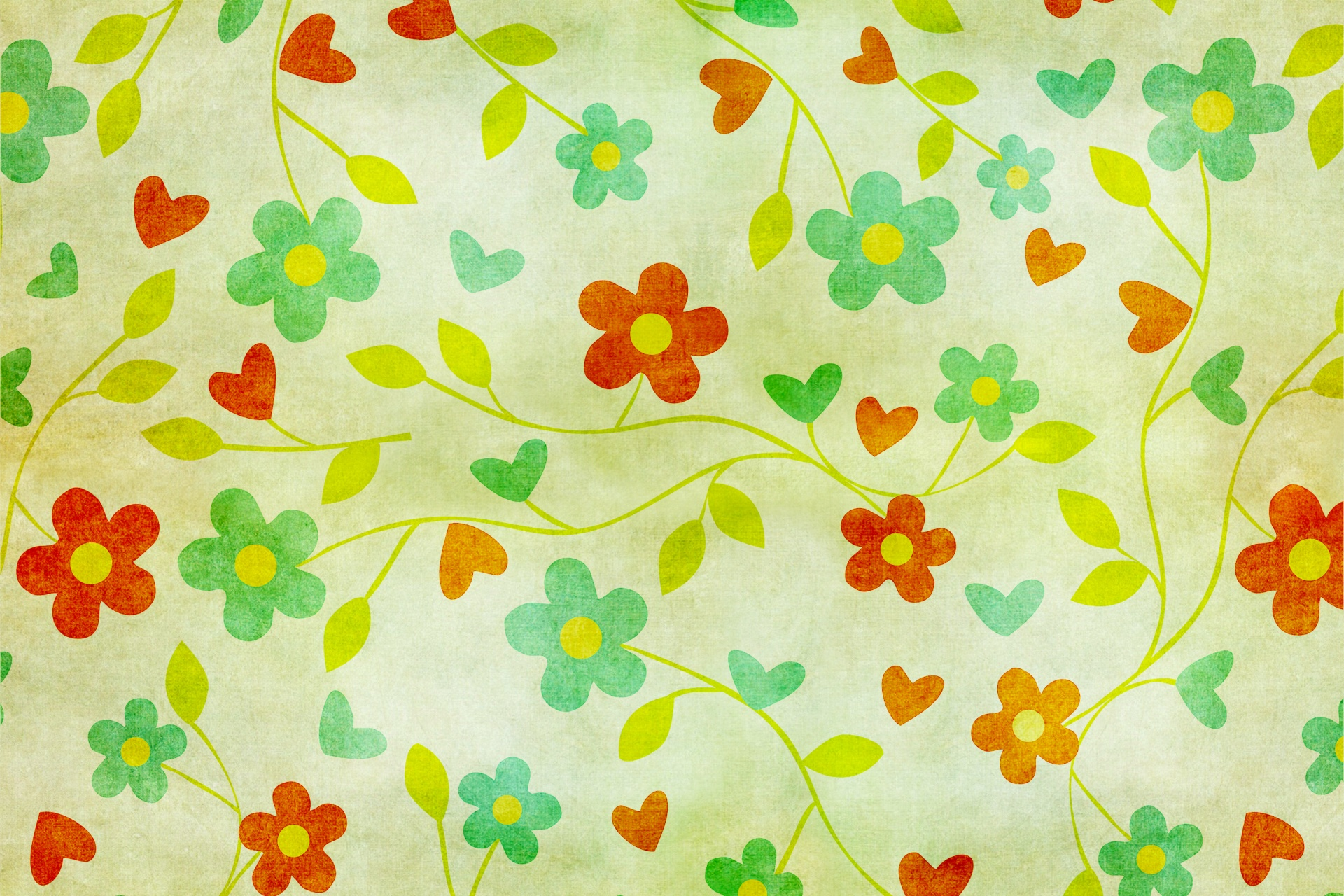 Floral Vintage Wallpaper Paper Background Free Image From