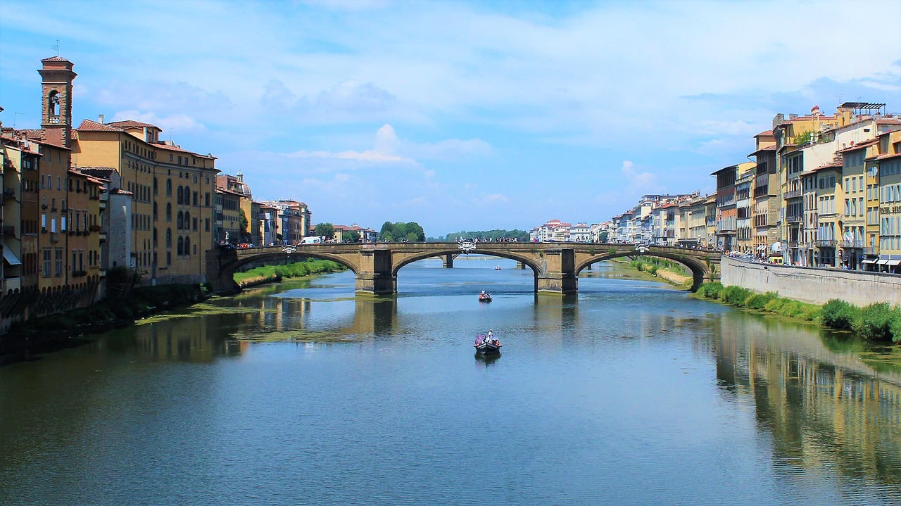 florence river bridge free photo