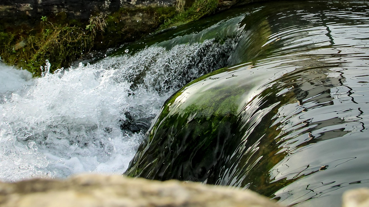 flow river waterfall free photo
