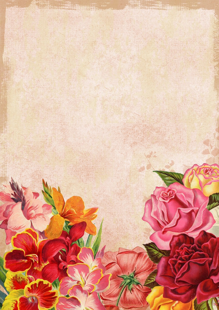 Flowerfloralbouquetbackgroundred Free Image From