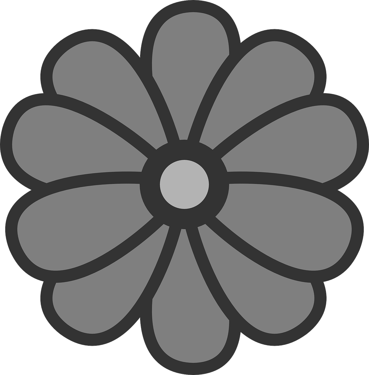 flower symbol icon free photo