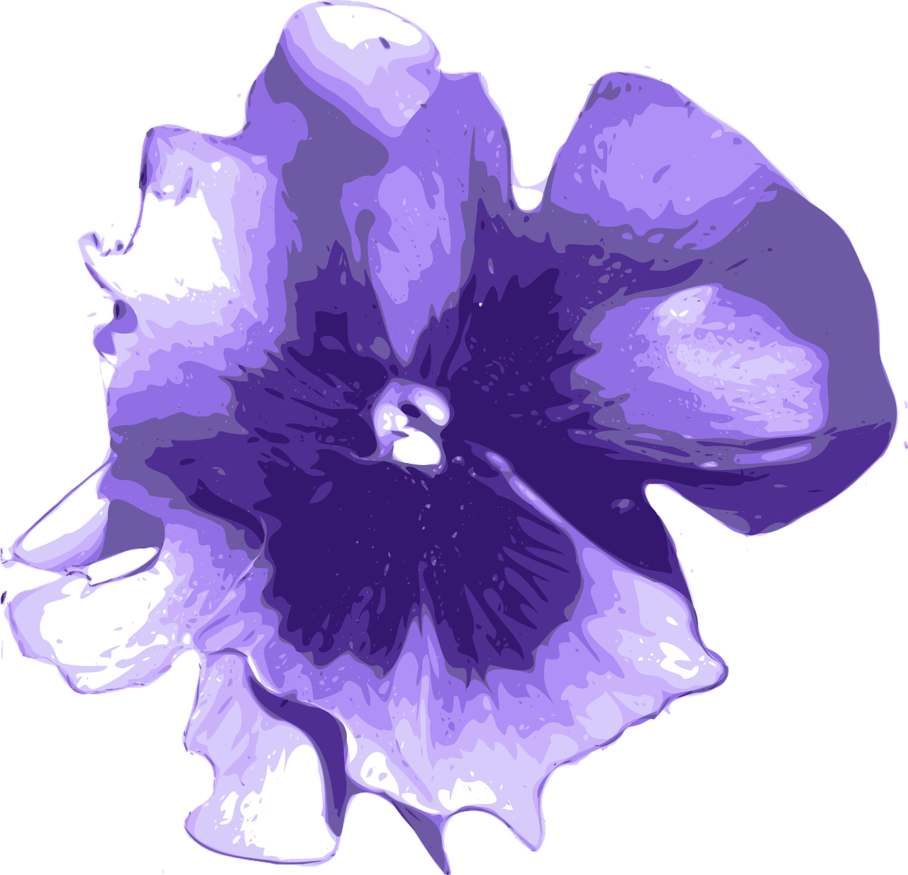 flower purple blue free photo
