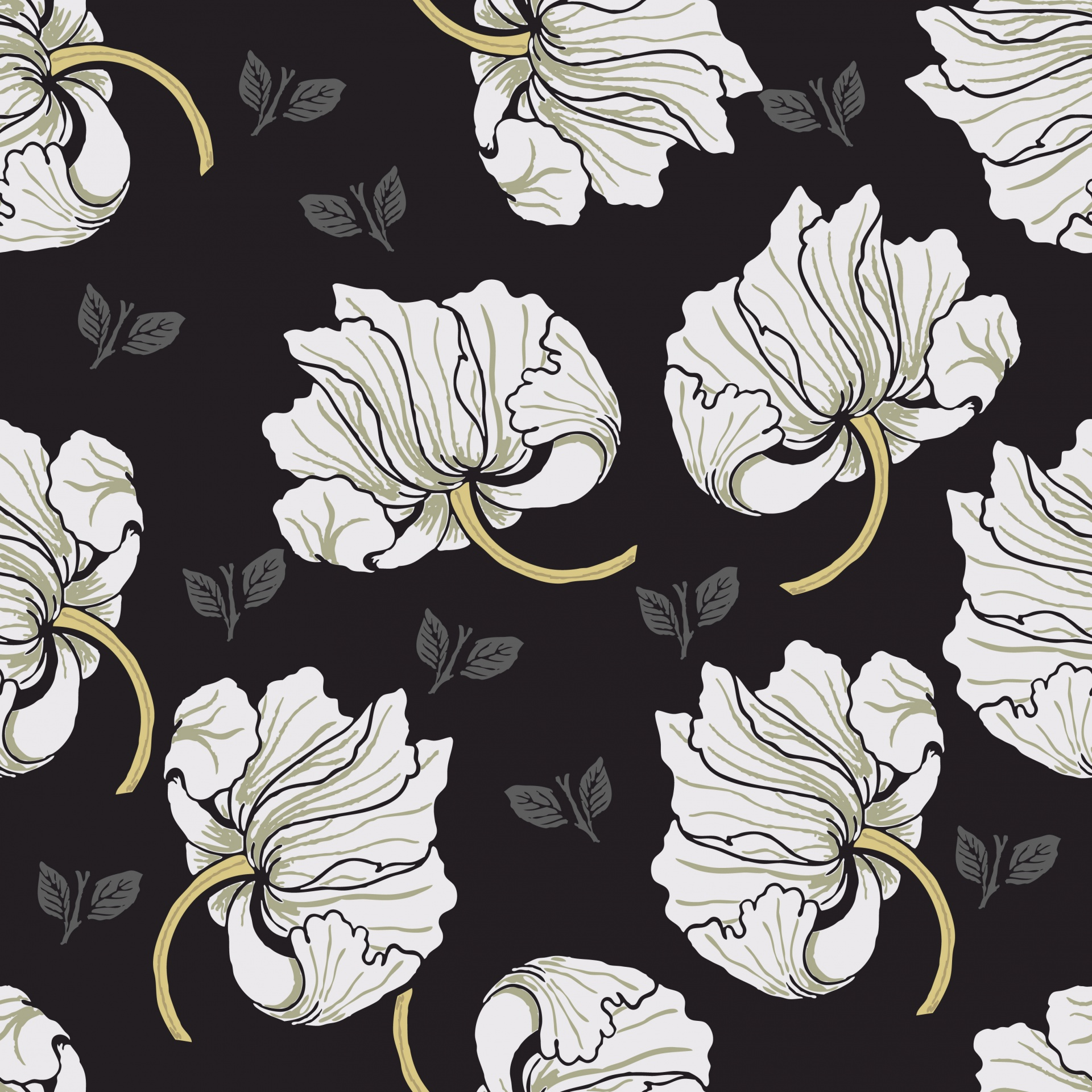 Flowers Floral Wallpaper Background Illustration Free Image From