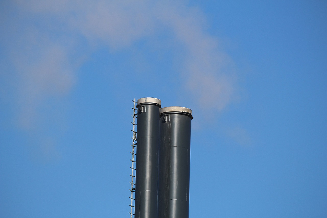 flue chimney air pollution free photo