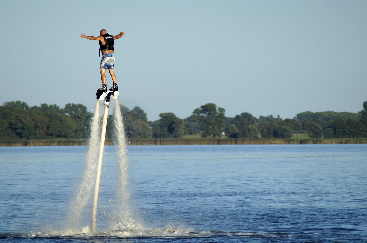 Flyboarding activity in Malaysia