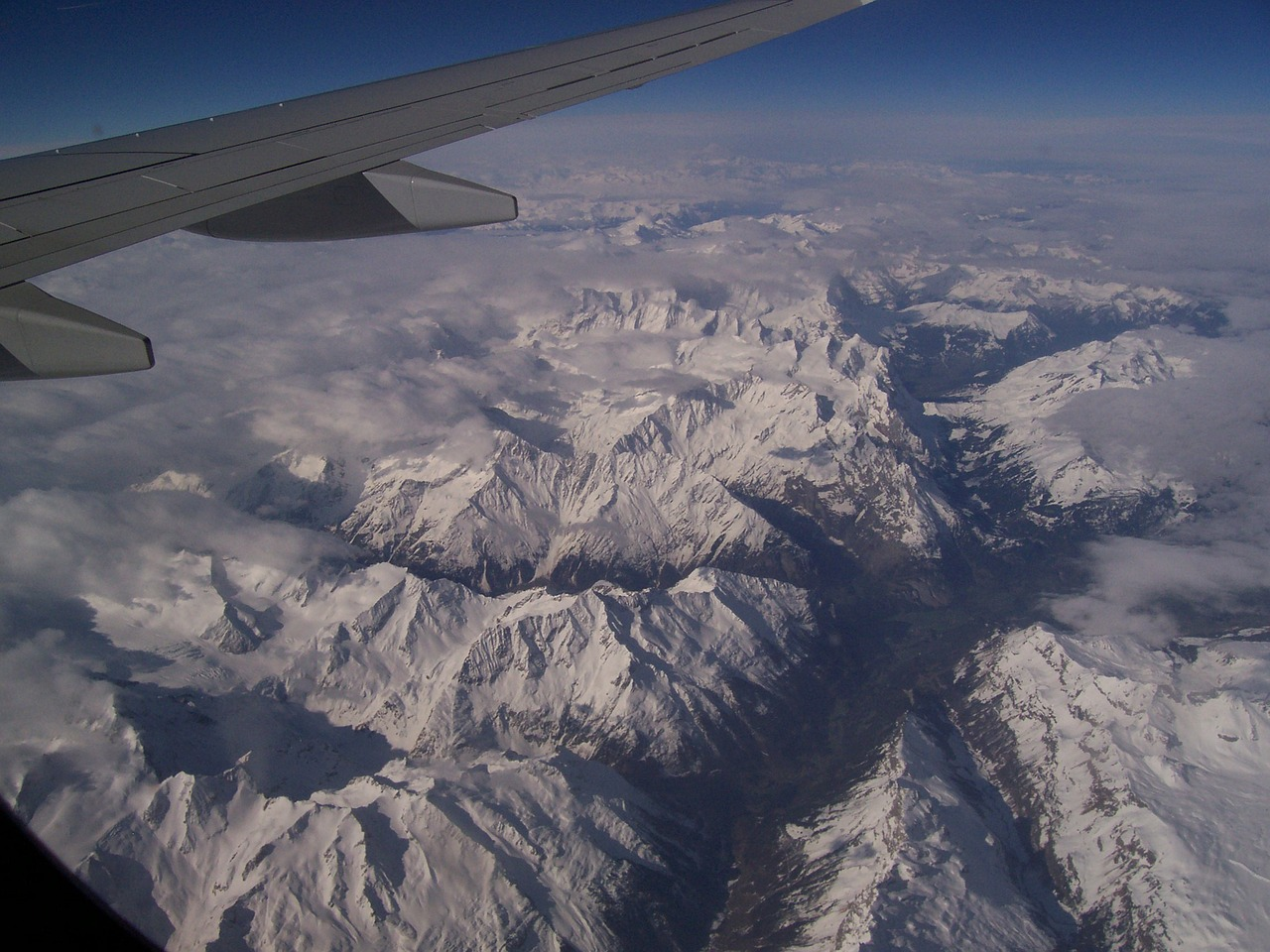 flying alps mountains free photo