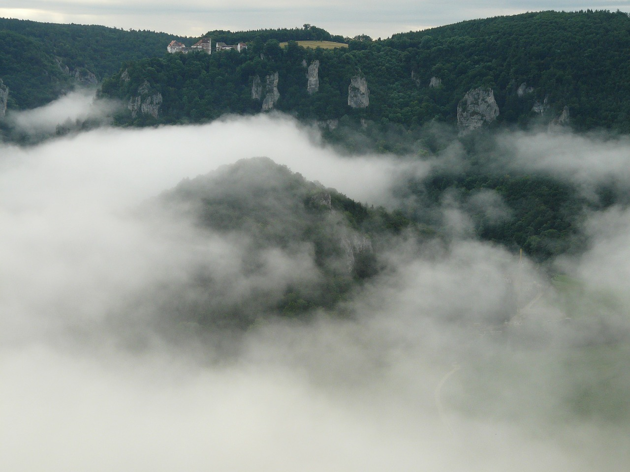 fog landscape danube valley free photo