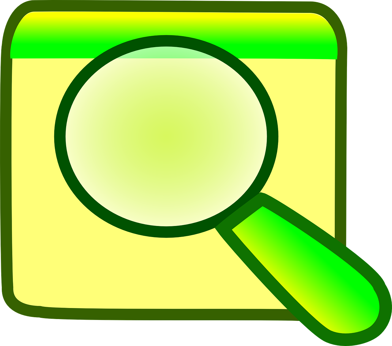 folder magnifying glass search free photo