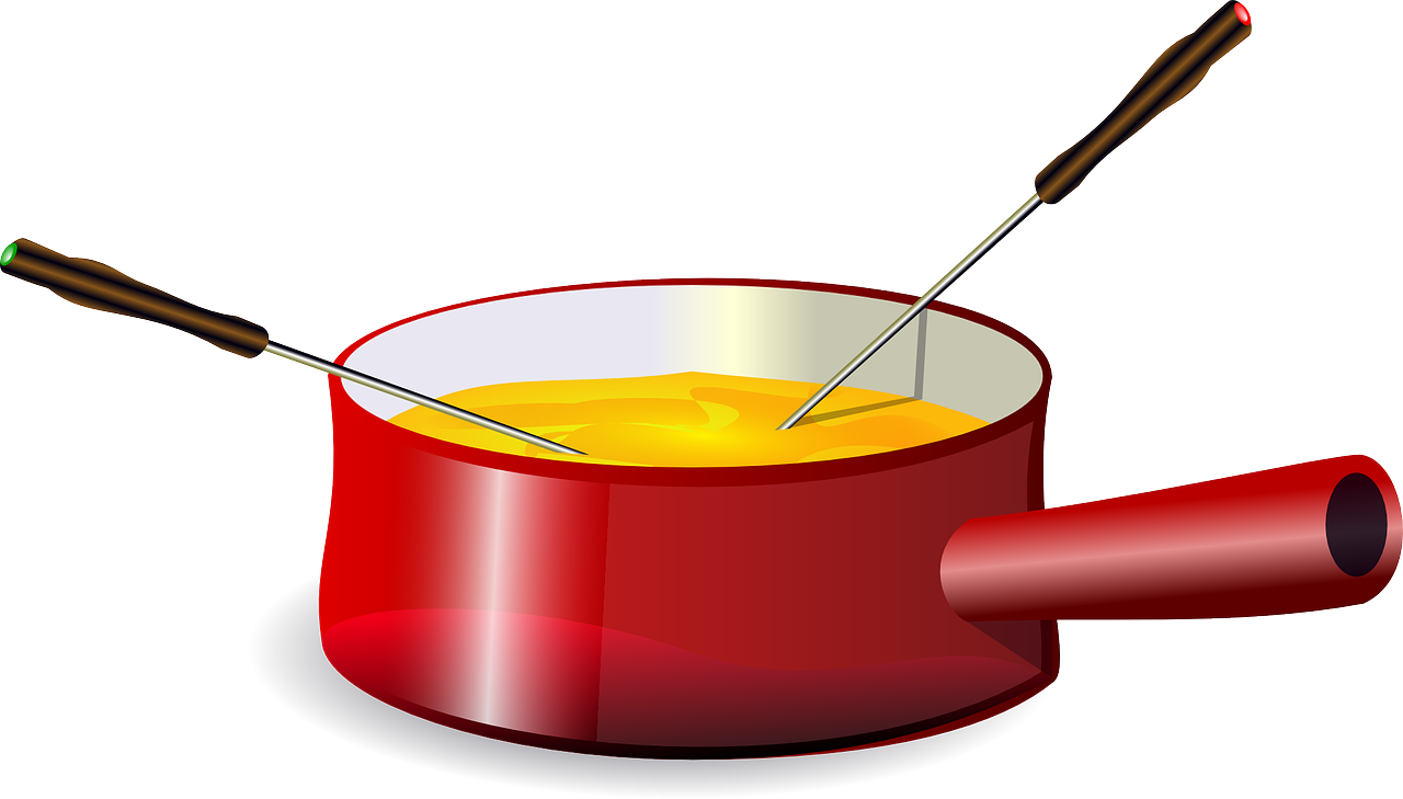 fondue cheese pot free photo